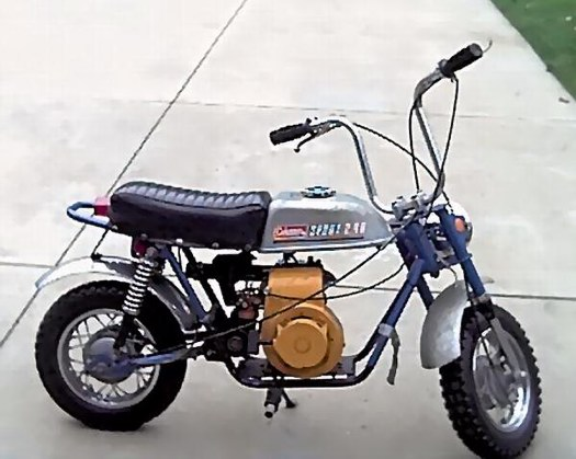 below is a picture of one of steve rent other minibike from his collection  of minibikes  never personally seen one of these bikes myself