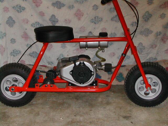 Homemade mini bike gas tank