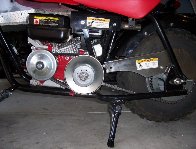 Baja Minibike Clutch To Torque Conversion